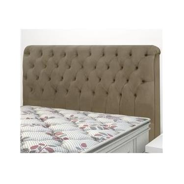 7cfb8fe4b Cabeceira King Size Imperatriz Simbal Sued Marrom Taupe