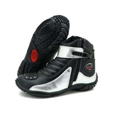 Bota Atron Shoes 271 Preta/Prata