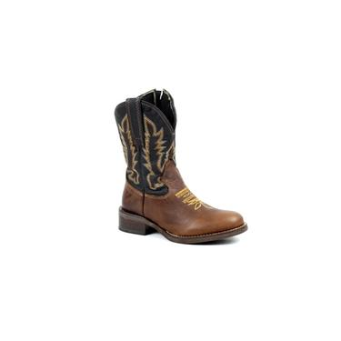 Bota Mr West Boots Kids Fossil Tabaco Lisa Bico Redondo