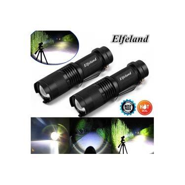 2x Elfeland 12000LM T6 LED Zoom Lanterna Recarregável Tocha Luz Super Brilhante
