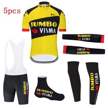 Jumbo visma conjunto de ciclismo masculino, camisa para bicicleta profissional e ciclistas, roupas 240314115