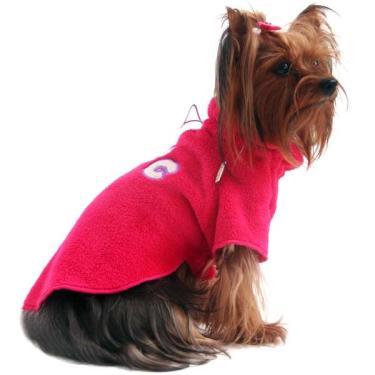 Pulôver Fleece Dog Pickorruchos Pink - Tam. 01
