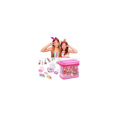 Imagem de Maquiagem Infantil Estojo + Gloss + Sombra + Baton + Pincel + Esmalte
