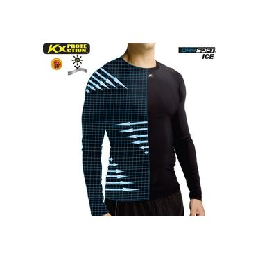Camisa Térmica Kanxa Alta Compressão UV 50 Manga Longa