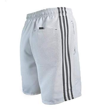 Bermuda Masculina Shorts 3 Bolsos Várias Cores (Chumbo (Cinza Escuro), P)
