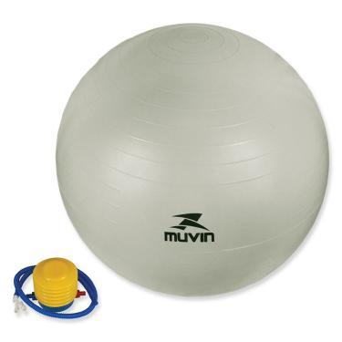 ee4fe67f5aa0f Bola Pilates Fitball Com Bomba Muvin - 85cm - Cinza