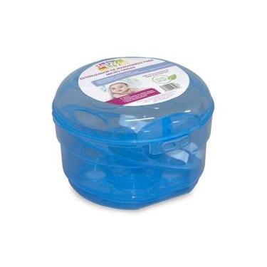 Esterilizador de Mamadeira Para Microondas Azul Baby Style
