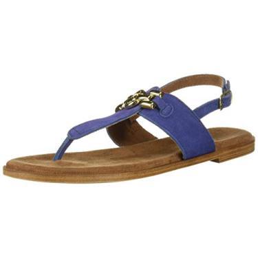 Imagem de Bella Vita sandália feminina Lin-Italy, Blue Italian Suede Leather, 7 Wide