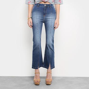Calça Jeans Flare Colcci Gisele Cropped Cintura Alta Feminina - Feminino bd6990e8e03