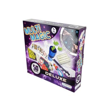 Kit de Mágica MultiMagic Deluxe com 50 Truques Indicado para +7 Anos Colorido Multikids - BR659 BR659