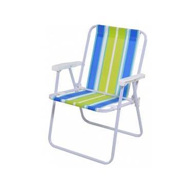 Cadeira De Praia Alta Em Aço Mor - 2002