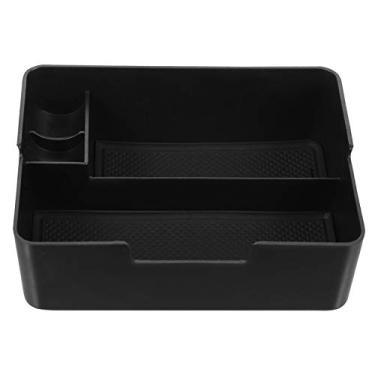 Imagem de Wakauto Bandeja organizadora para apoio de braço do console central, divisória de caixa de armazenamento secundária, gaveta de cubinho oculta acessórios para carro