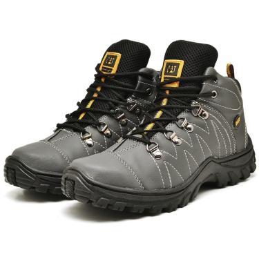 Bota Coturno Tratorada Caterpillar Trivale Shoes Cinza  masculino