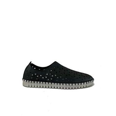 Sapato slip-on de couro nobuck Eric Michael Inez (EU, Azul marino, 6.5