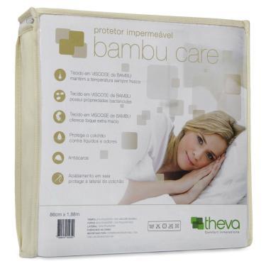 Imagem de Protetor Colchão Impermeável Bambu Care Casal King 193X203 Theva Copespuma