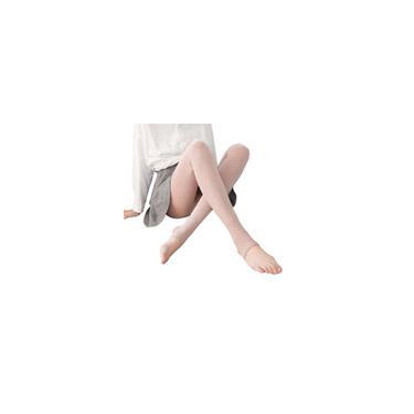 Leggings Plus Velvet Fio Grosso de Algodão com Listras Verticais Usam Calças Quentes