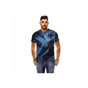 Camiseta League Of Legends Shyvana Dragão De Gelo Masculina Slim