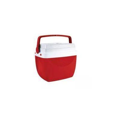 Caixa Térmica Cooler 6 Litros Resistente Prática Com Alça Comporta 8 Latinhas Vermelha Mor