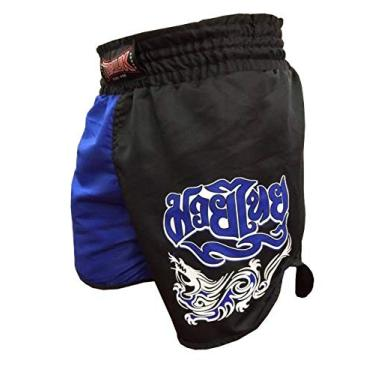 Calção Short Muay Thai Dragon Melt - Cavado - Azul/Preto - Toriuk