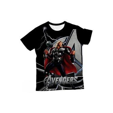 Camiseta Infantil Thor Preta MC