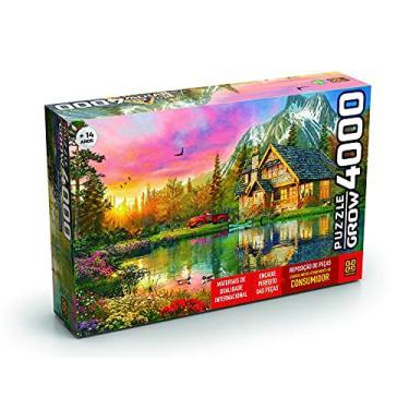 Imagem de Quebra-cabeças Grow 4000 peças: Refúgio na Montanha (exclusivo Amazon), Multicor