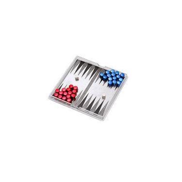 Mini Jogo De Gamão Com Peças Magnéticas. Incasa.