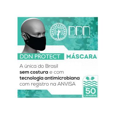 Máscara Lavável 50x DDN Protect Sem Costura Adulto Preta