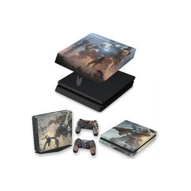 Capa Anti Poeira e Skin para PS4 Slim - Titanfall 2 #B