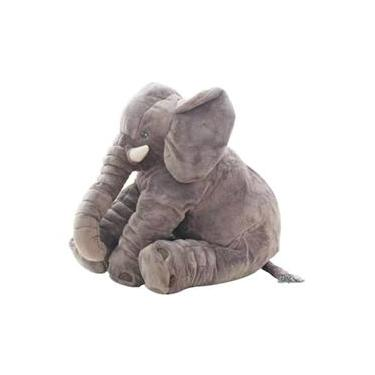 Imagem de Almofada Elefante de Pelúcia Cinza - Buba Baby