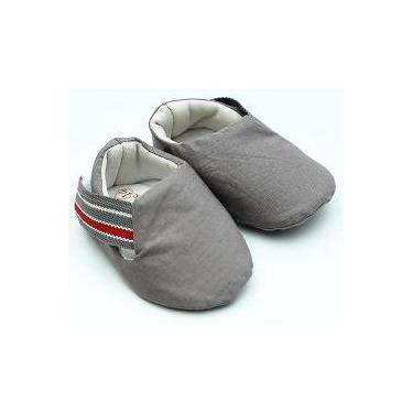 Sapato Cinza Gorgurão Listrado