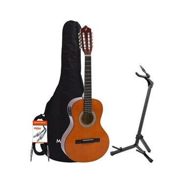 Kit Viola Eletroacústica VS14EQ Natural GIANNINI + Acessórios