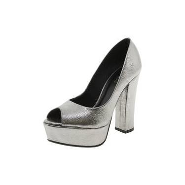 8ac9eb7ab Sapato Prata Salto Alto   Moda e Acessórios   Comparar preço de ...