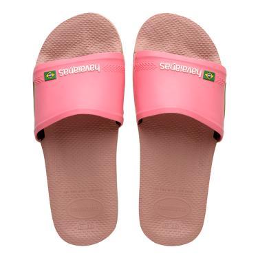 Sandália Havaianas Slide Brasil Rosa  feminino