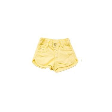 Short Infantil Sarja Amarelo Pull-ga Amarelo 1