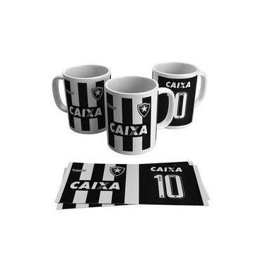 Caneca Botafogo Camisa Número 10 Fogo Time Futebol 7358261c1dd