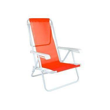 Cadeira Reclinável 8 Posições Aço Coral