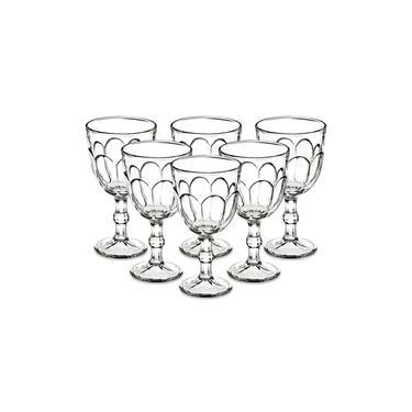 Jogo 6 Taças De Água Vinho 310ml Vidro Transparente Class Home