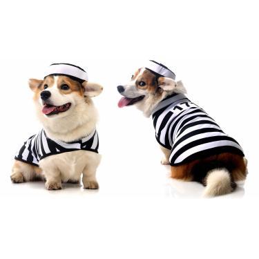 Fantasia para Cachorros Presidiário GG