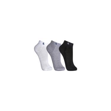 Imagem de Kit 3 pares meias masc cano curto algodão Lupo sortida 3225