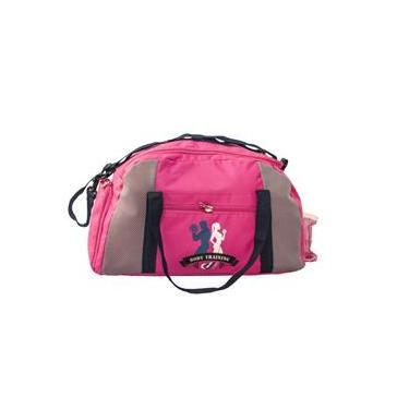 Bolsa feminina sacola esportiva de mão para academias com porta tênis - Rosa
