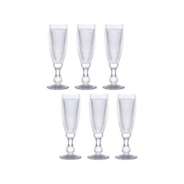 Jogo de Taças para Champagne de Vrido 185ml  - 6 Peças Bon Gourmet Bic
