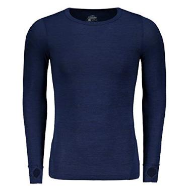 Camisa De Compressão Penalty Max Flex UV 50 Manga Longa Azul