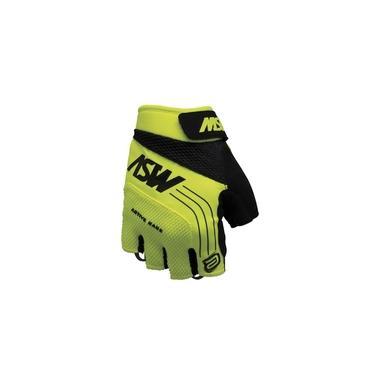 Luva ASW Active Aberta Amarelo Fluorescente Preto
