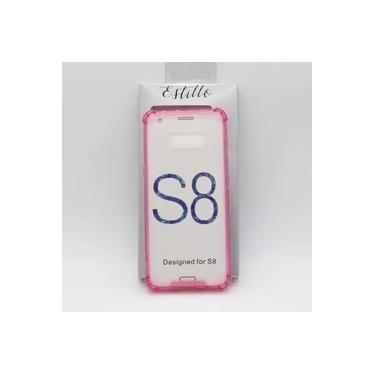 Capa Galaxy S8 Anti Impacto Tpu Com Fundo De Acrílico Rosa