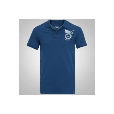 d341f68589 Camisa Polo Everlast EL20003 - Masculina - AZUL Everlast