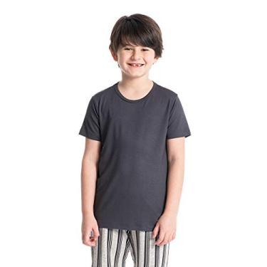 Pijama Infantil Masculino Curto Estampado Henrique Cinza-2/02