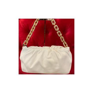 Imagem de Bolsa Feminina Pequena com Corrente Grossa Dourada  Off White  feminino