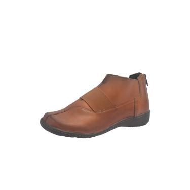 Botinha S2 Shoes Aisha Couro Castanho  feminino