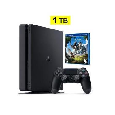 Console Playstation 4 1Tb Slim + Jogo Horizon Zero Dawn