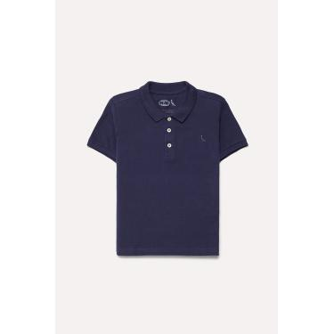 Camisa Polo Piquet Básica, Reserva Mini, Meninos, Marinho, 02